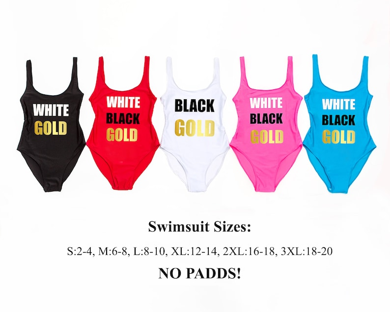 One Piece Swims Bachelorette Party Swimsuits Bride Customized Swimsuits Bridal White Swim Babies of the Bride Bachelorette  Swimsuits