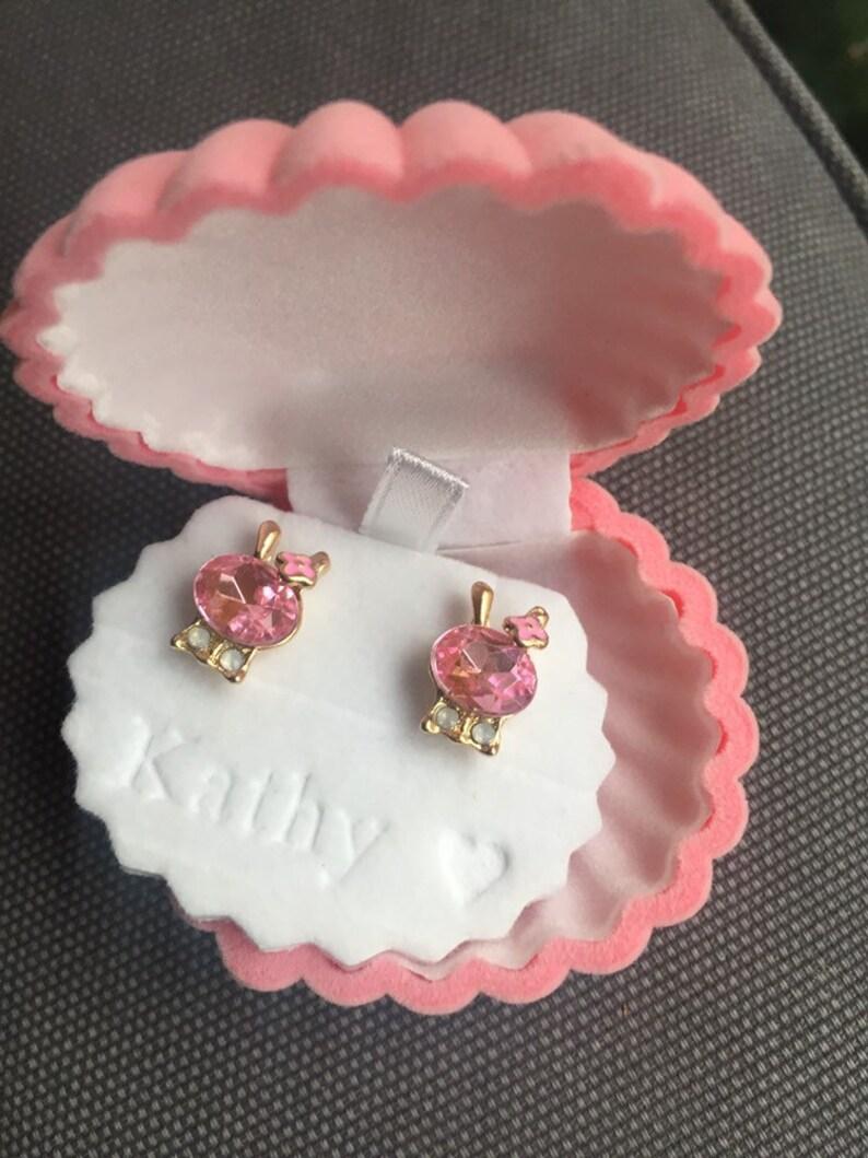 Seashell Jewelry Box Velvet and Plastic Velvet Shell Personalized  Velvet Shell Earring Box,Nautical Earring Box Jewelry Box Earring Box