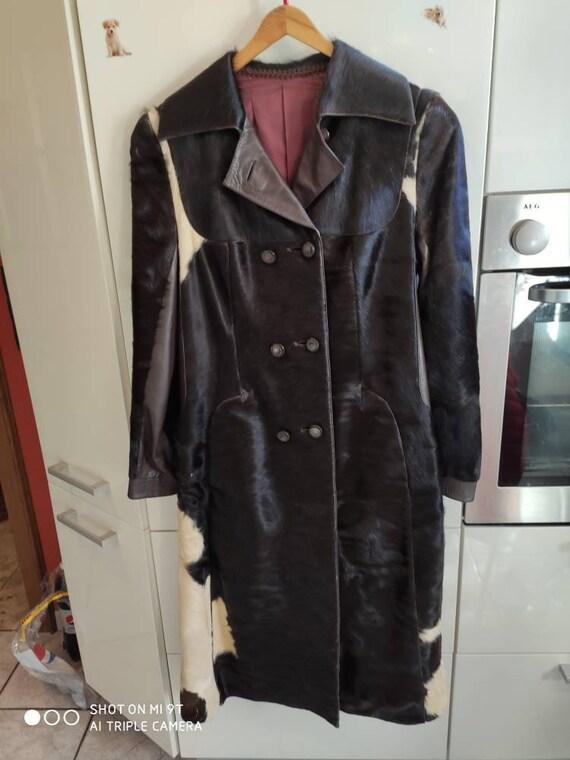 Vintage 1970s Cow Fur Coat
