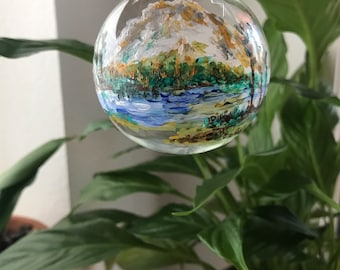 Hand painted Ornament of the Beautiful Mount Hood, Oregon