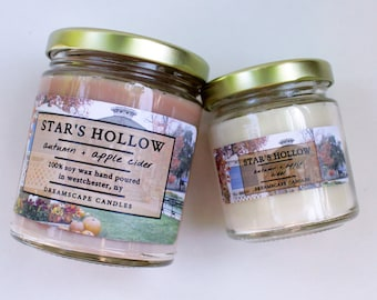 Star's Hollow   Soy Vegan Scented Candle   Witty TV Dramedy Inspired