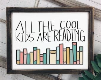 All the Cool Kids Are Reading Printable SVG and PNG File Handlettered