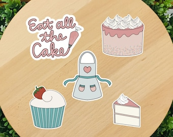 Baking Sticker Designs SVG and PNG Files