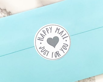 Happy Mail Business Stickers for Print and Cut SVG PNG files