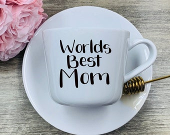 World's Best Mom SVG and PNG File Hand Lettered
