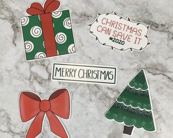 Christmas Sticker Design Bundle PNG For Print and Cut Christmas Designs