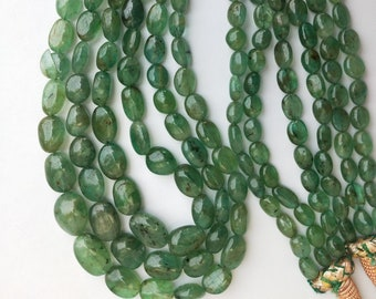 Precious Emerald Necklace ~~ Natural Untreated Zambia Emerald ~~ Gift for Her.