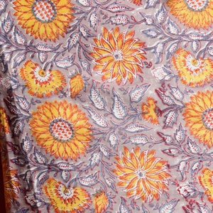 Indian Handcrafted Fabric by Fabric Stori Cotton Fabric with Hand Block Print for Us lovers Fabric By the Meter