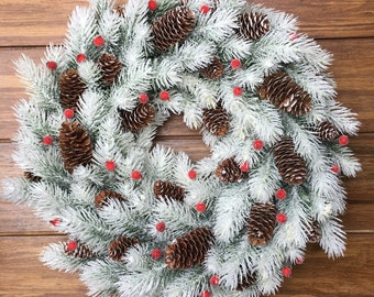 Frosted Pine cones Christmas pine cones white pine cones Frosted Christmas ornament Frosted glitter ornament SET OF SIX