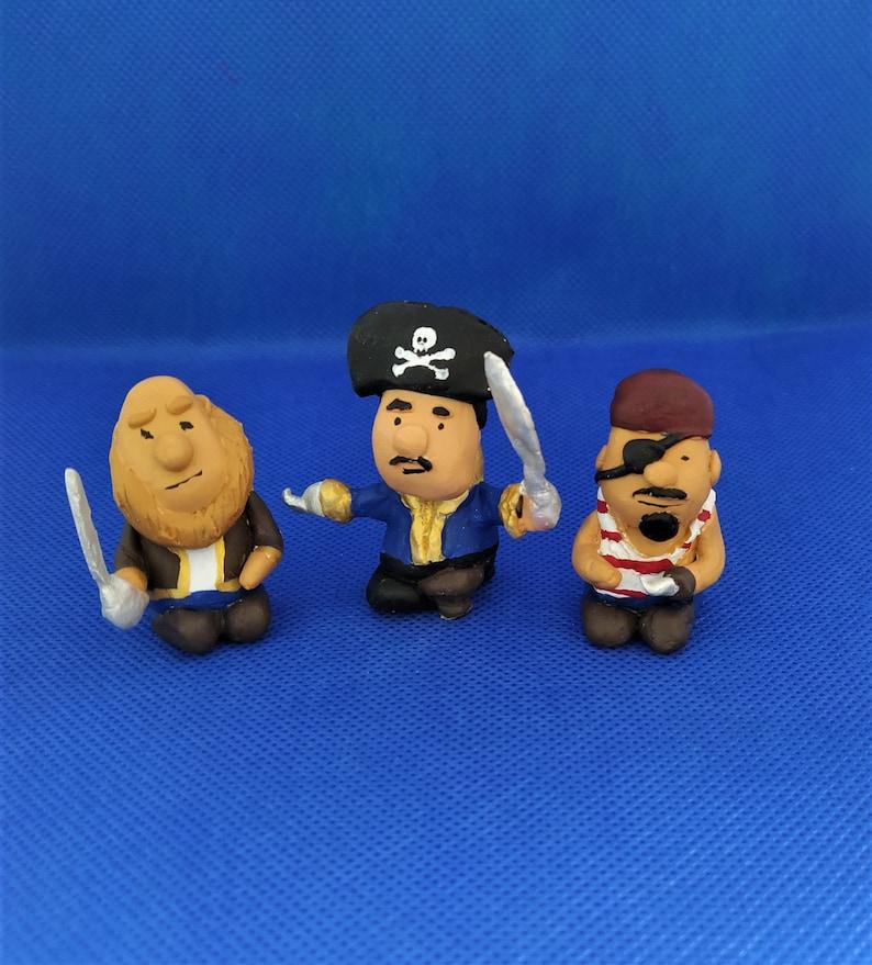 bartognomi mini pirates miniature figure personalized gift figure tiny pirate Pirates tiny figures custom gnoms