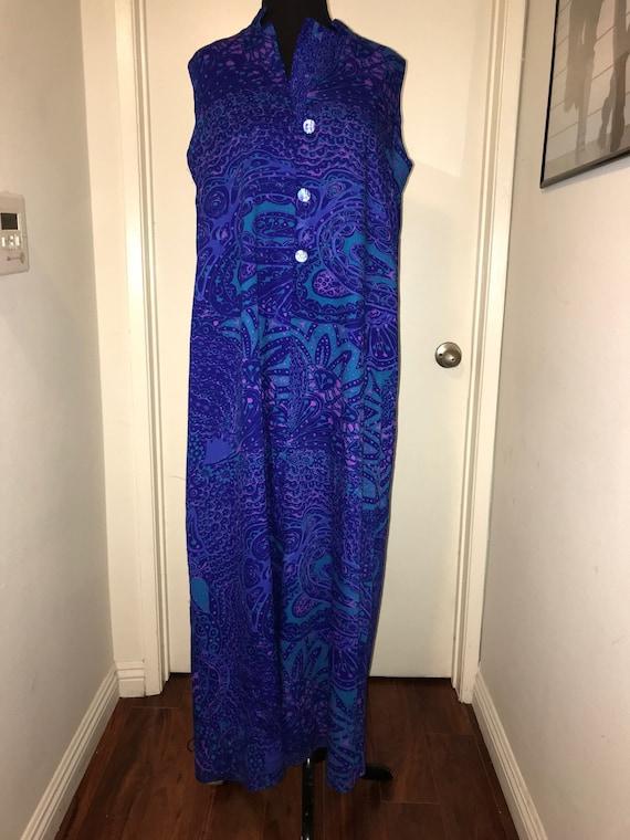 Vintage tiki dress Hawaiian