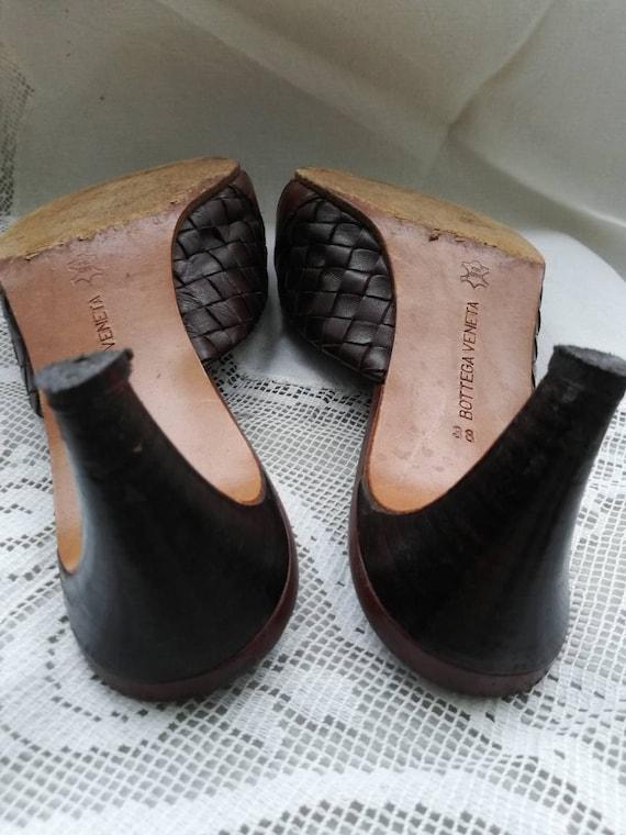Vintage 90s Botega Veneta leather mules. Size 5. - image 6