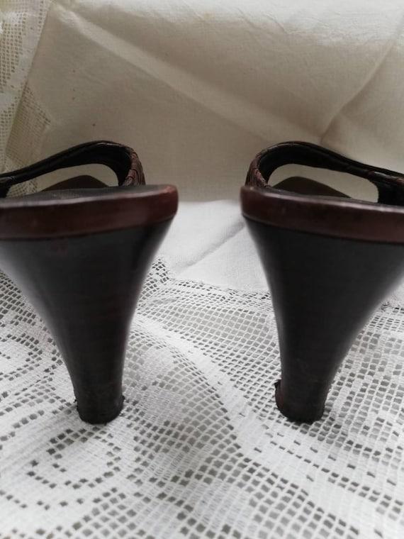 Vintage 90s Botega Veneta leather mules. Size 5. - image 8