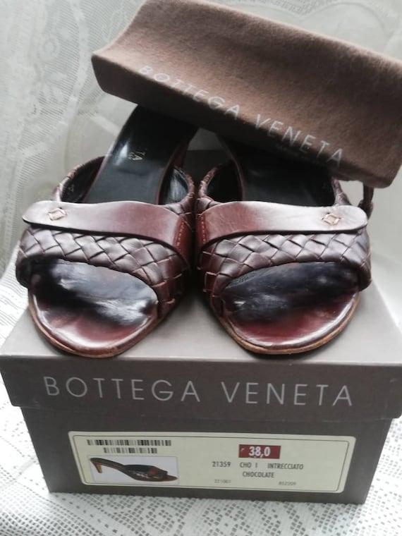 Vintage 90s Botega Veneta leather mules. Size 5. - image 1