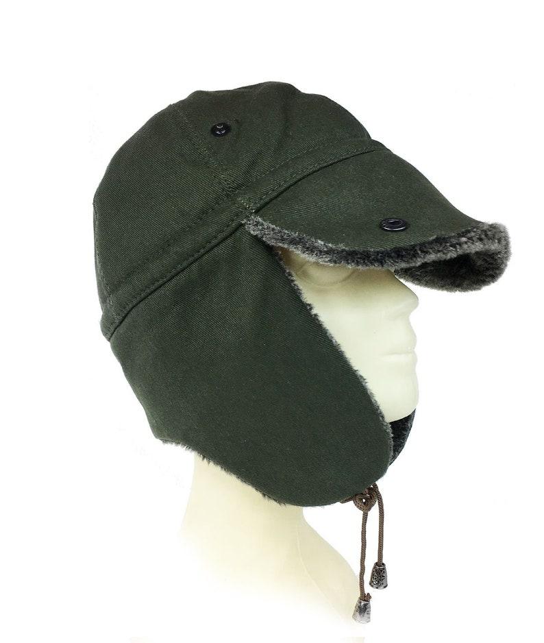 Shark Anatolia Pilot Snow Ski Fur Hat Khaki Green