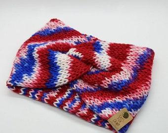 Lets Go Buffalo knit headband