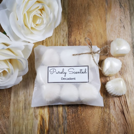 Decadent Highly Scented Hand Poured Soy Wax Melt - Pearlescent Shells