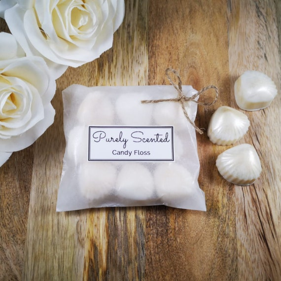 Candy Floss Highly Scented Hand Poured Soy Wax Melt - Pearlescent Shells