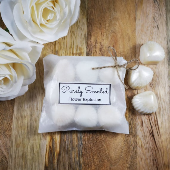 Flower Explosion Highly Scented Hand Poured Soy Wax Melt - Pearlescent Shells