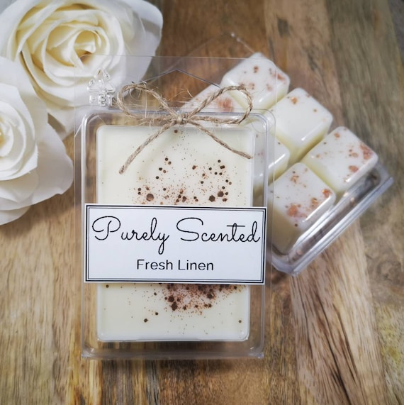 Fresh Linen Highly Scented Hand PouredSoyWax Melt - Clamshell