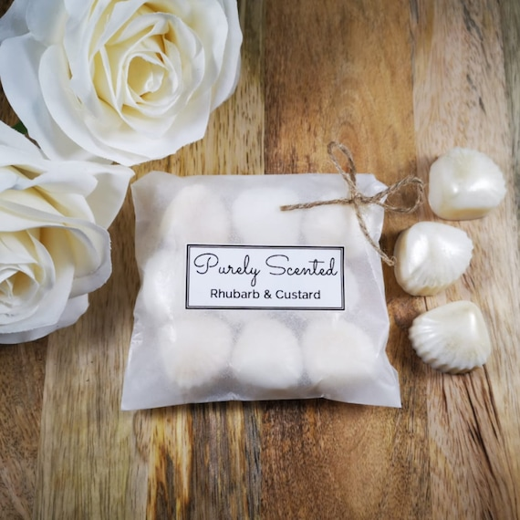 Rhubarb & Custard Highly Scented Hand PouredSoyWax Melt - Pearlescent Shells