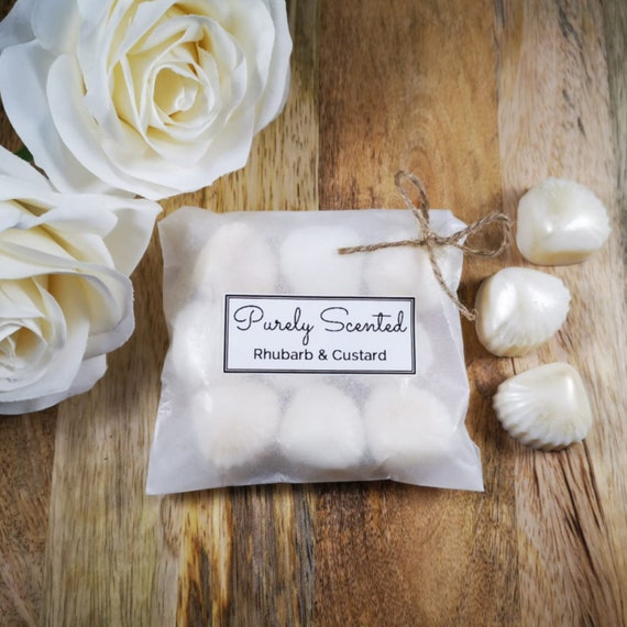 Rhubarb & Custard Highly Scented Hand Poured Soy Wax Melt - Pearlescent Shells
