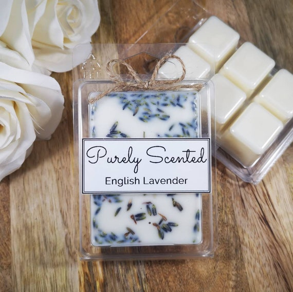 English Lavender Highly Scented Hand PouredSoyWax Melt - Clamshell