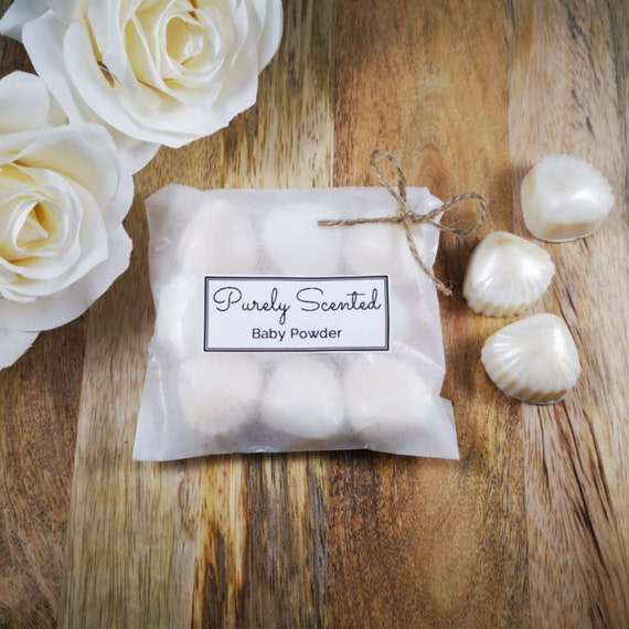 Baby Powder Highly Scented Hand Poured Soy Wax Melt - Pearlescent Shells
