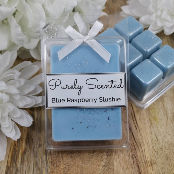 Blue Raspberry Slushie Highly Scented Hand PouredSoyWax Melt - Clamshell