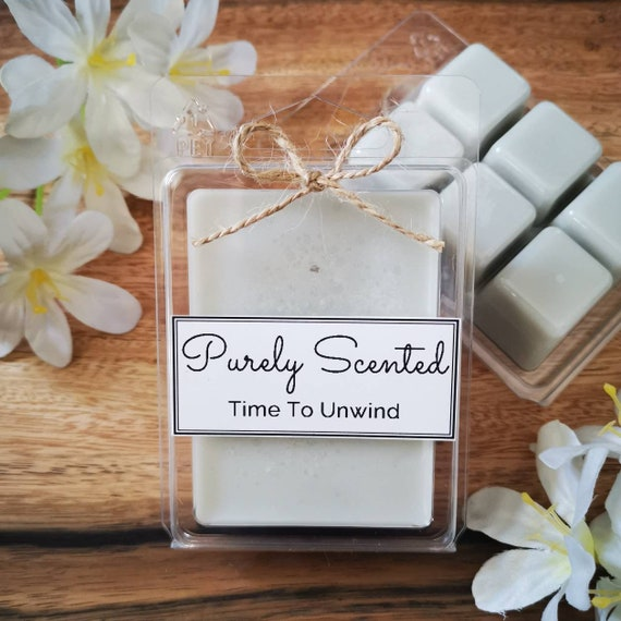 Time To Unwind Highly Scented Hand Poured Soy Wax Melt - Clamshell