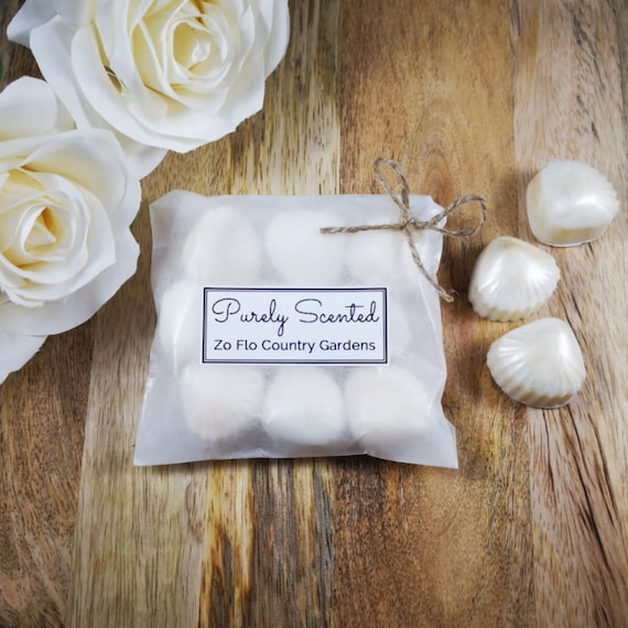 Zo Flo Country Gardens Highly Scented Hand PouredSoyWax Melt - Pearlescent Shells
