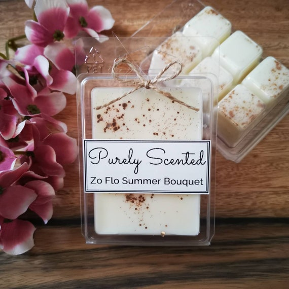 Zo Flo Summer Bouquet Highly Scented Hand Poured Soy Wax Melt - Clamshell
