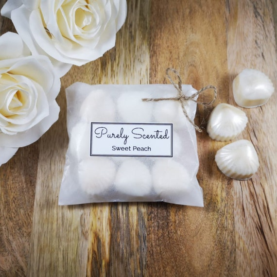 Sweet Peach Highly Scented Hand Poured Soy Wax Melt - Pearlescent Shells