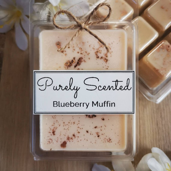 Blueberry Muffin Highly Scented Hand Poured Soy Wax Melt - Clamshell