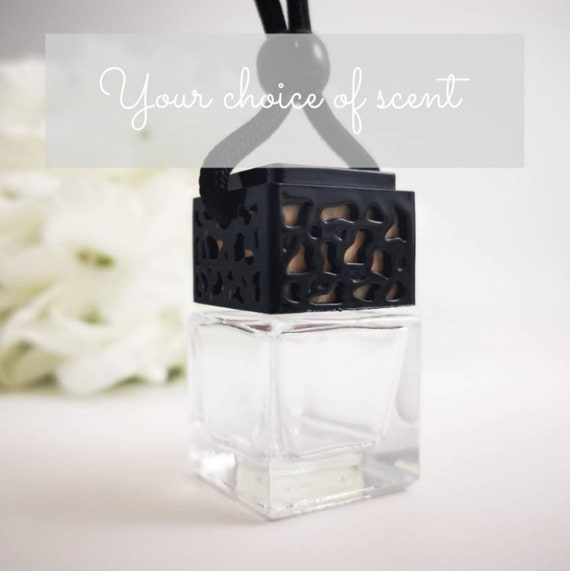 Beautiful Highly Scented Glass Car / Wardrobe Diffuser - Black