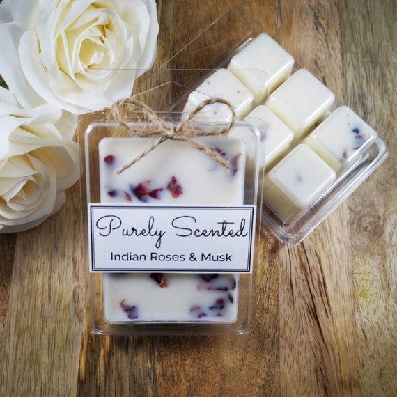 Indian Roses & Musk Highly Scented Hand PouredSoyWax Melt - Clamshell