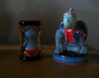 """Wizard of Oz salt and pepper shakers /""""Star Jars/"""" scarecrow and monkey new SP007"""
