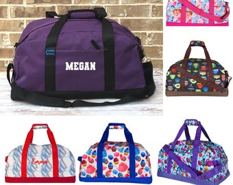 Duffle Gym Personalized Kids Third Grade Duffel Bag Cutie School PE Student Gift Contrast Piping and Stitching Embroidered with Name