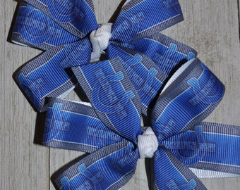 Set of Two Indianapolis Colts Hair Bows Colts Bows