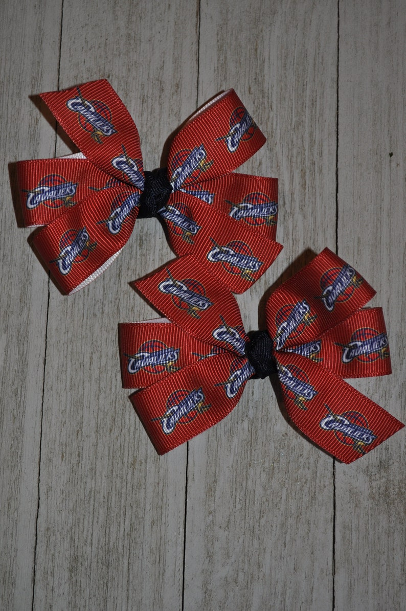 Set of Two Cleveland Cavaliers Hair Bows Cavs
