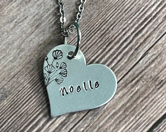 PET CHARM NECKLACE, Pet Lover Necklace, Customized Fur Baby necklace, Hand Stamped Gift