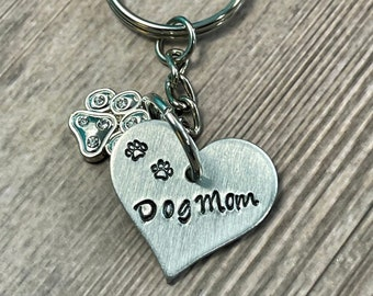 PURSE CHARM, HEART shaped charm, gift for pet lovers, Personalized charm, Zipper pull, Hand stamped name, Dog And Cat bag charm