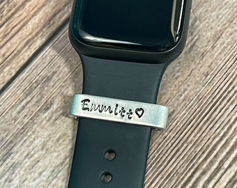 PET NAME Watch Band Charm, Smart Watch Cuff, Smart Watch Charm, Name Band, Gift for Pet Lover, Watch Accessories