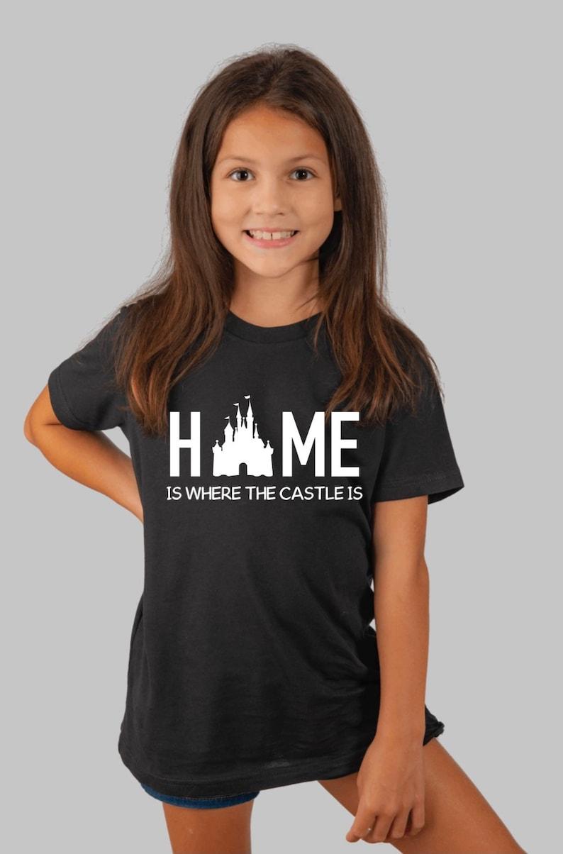 Disney fashion Disney clothes Disney tops Home is where the castle is Disney kid t-shirts Disney t-shirt