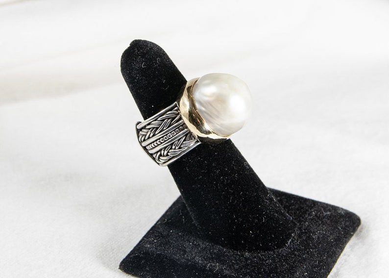 Rizzo Designs Pearl Ring and Earrings Set