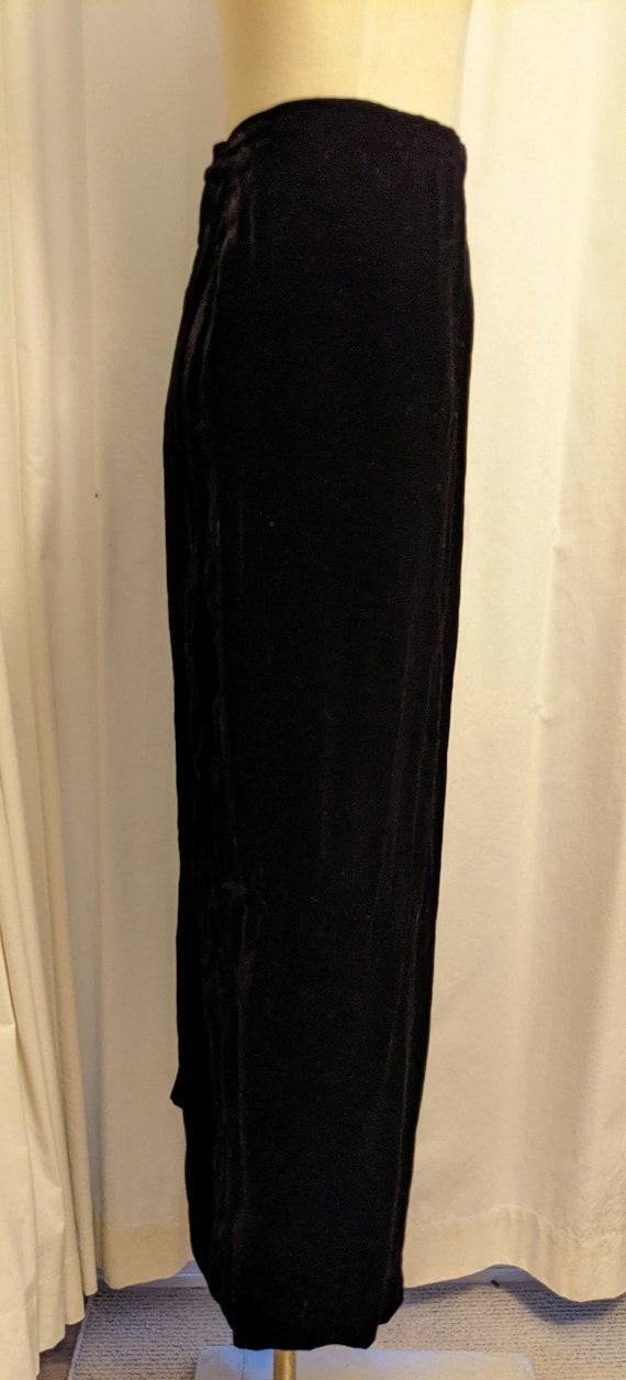 Vintage 1990s Laura Ashley Style Black Velvet Ski… - image 2