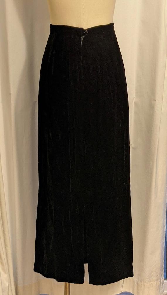 Vintage 1990s Laura Ashley Style Black Velvet Ski… - image 3