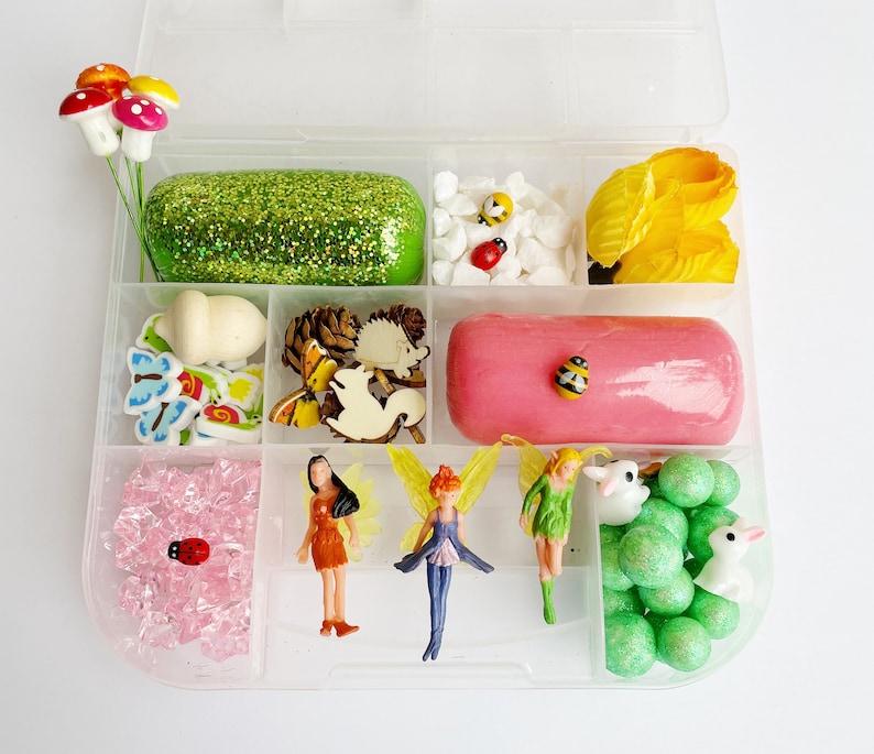Fairy Mini Play Dough Kit  Fairy Sensory Kit  Fairy Garden image 0