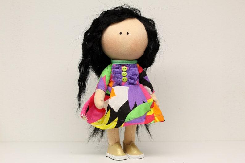 Madlen doll Handmade doll  Fabric dolls Textile Dolls image 0