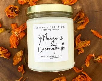 Mango & Coconut Milk | Handmade Soy Candle | Spring Scented Candle | Mango Candle | Coconut Milk Candle